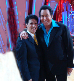 Corky Ballas and Wayne Newton