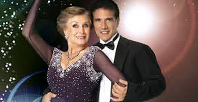 Corky Ballas and Cloris Leachman