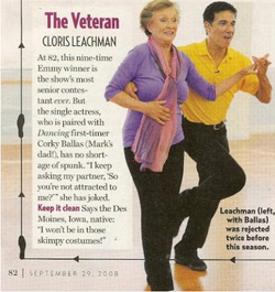 Corky Ballas and Cloris Article