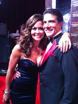 Corky Ballas and Brooke Burke