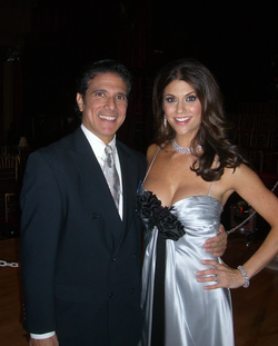 Corky Ballas and Samantha Harris