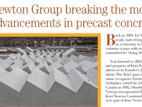 Kiwi Newton Group breaking the mould with advancements in precast concrete