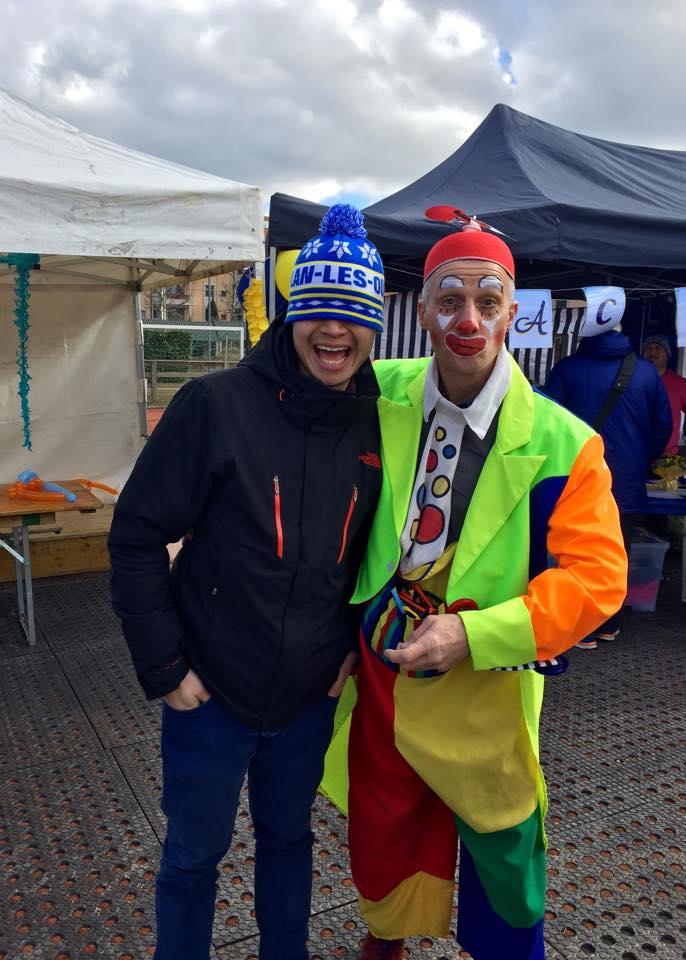 Kevin avec le Clown Dimitri