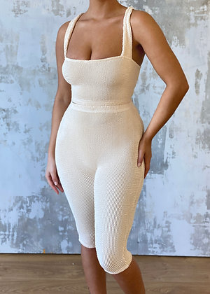 The Textured Quarter Length Two Piece
