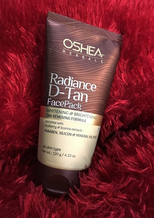 OSHEA RADIANCE D-TAN FACE WAH AND SCRUB
