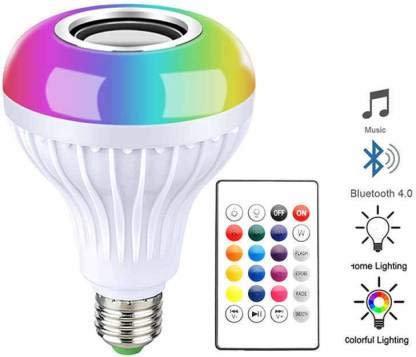 Teconica Led Bulb with Bluetooth Speaker Music Light Bulb + RGB Light