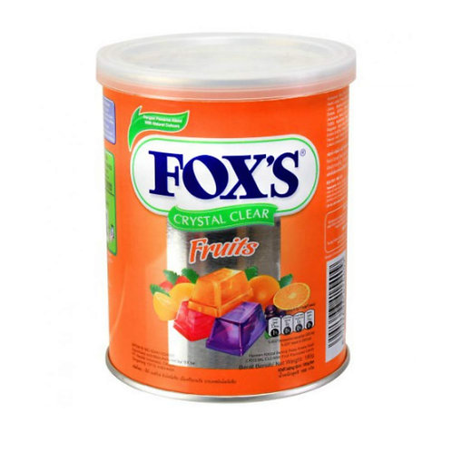 Nestle Fox's Crystal Clear Flavored Candy Tin - Fruits & MINTS 180g