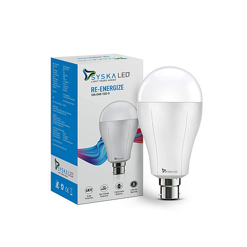 Syska EMB-1502-D 15 Watt Rechargeable Emergency Led Bulb with ReplaceableBattery