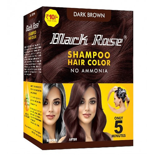 BLACK ROSE SHAMPOO HAIR COLOR NATURAL BLACK