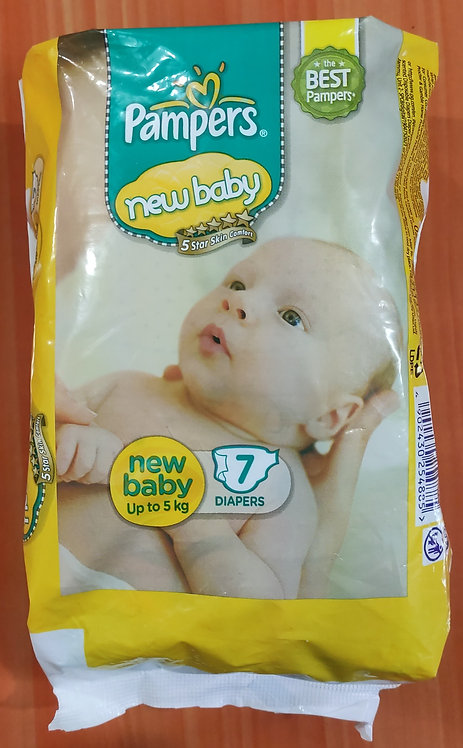Pampers Active Baby Diapers, New Born, Extra Small, (NB, XS) size, 7 Count