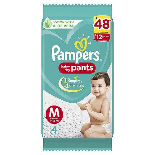 Pampers Diaper Pants, Medium, 4 Count