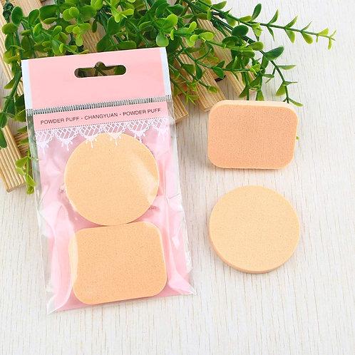 Face Sponge 2pcs Beauty Makeup Facial Sponges Puff Round Rectangle Dry