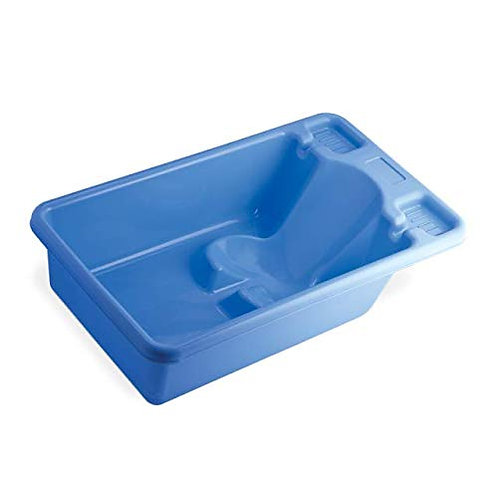 All Time Plastic Care Baby Bath Tub with Toy (Blue)