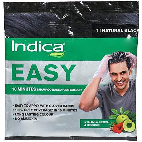 INDICA EASY 10 MINUTES SHAMPOO BASED HAIR COLOUR NATURAL BLACK