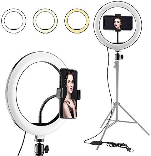 "10"" Selfie Ring Light & Phone Holder"