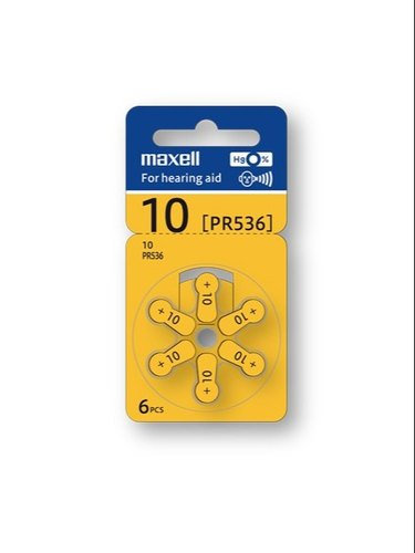 MAXELL FOR HEARING AID PR536 6PCS