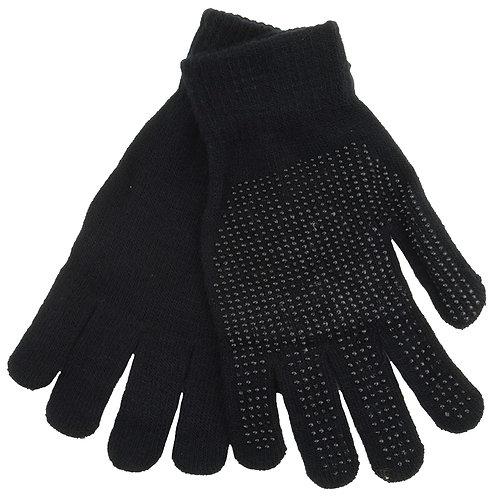 Black Warm Magic Gloves with Palm Grip