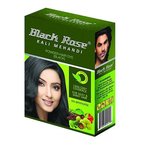 BLACK ROSE KALI MEHANDI POWDER HAIR DYE (BLACK)