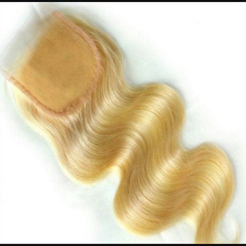 4x4 BLONDE BOMBSHELL BODY WAVE LACE CLOSURE HD