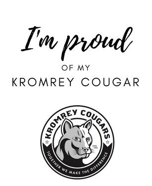 I'm proud of my Kromrey Cougar sign