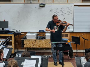 March 9, 2020 - Randy Sabien Visited the Bands & Orchestras