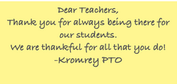 Thank you to Staff