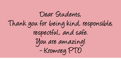 Thank you to students
