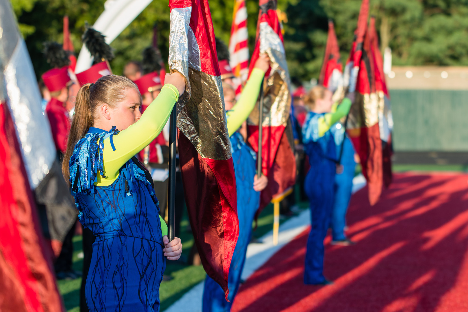 Marching Band Color Guard