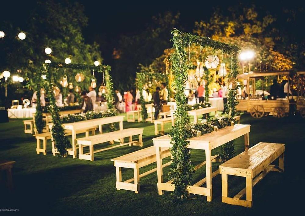 Open Reception in a Lawn