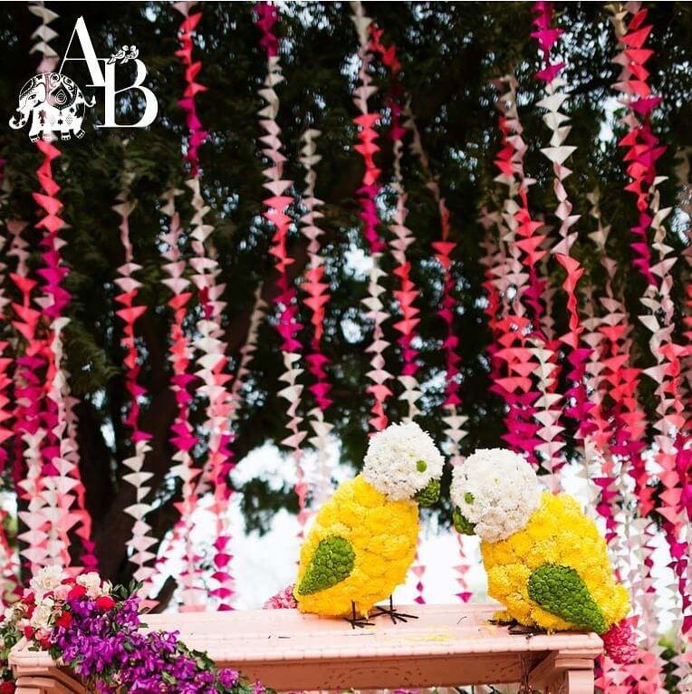 Flower Decor at a Wedding