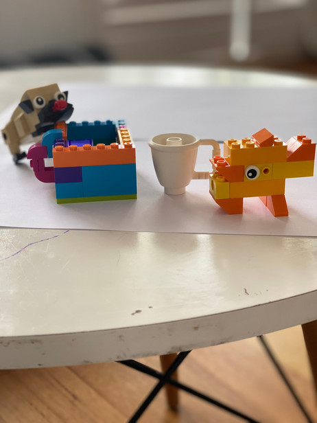 Teacup, dog and duck by Elijah