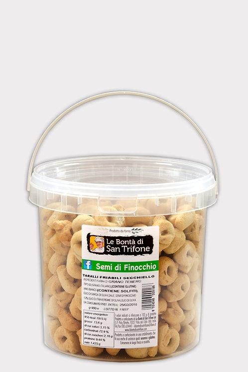 Taralli Friabili in secchiello gusto Finocchio