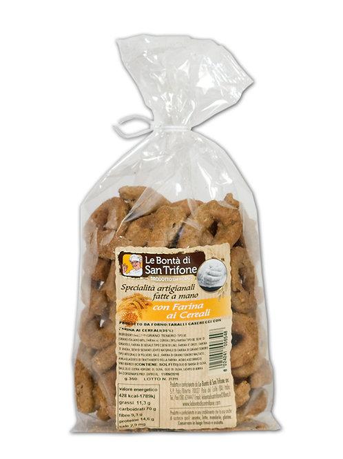 Taralli Caserecci con farina ai cereali