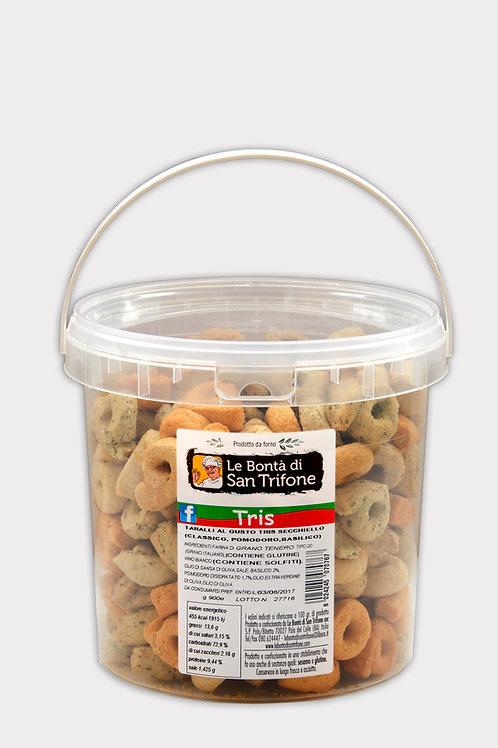 Taralli Friabili in secchiello gusto Tris