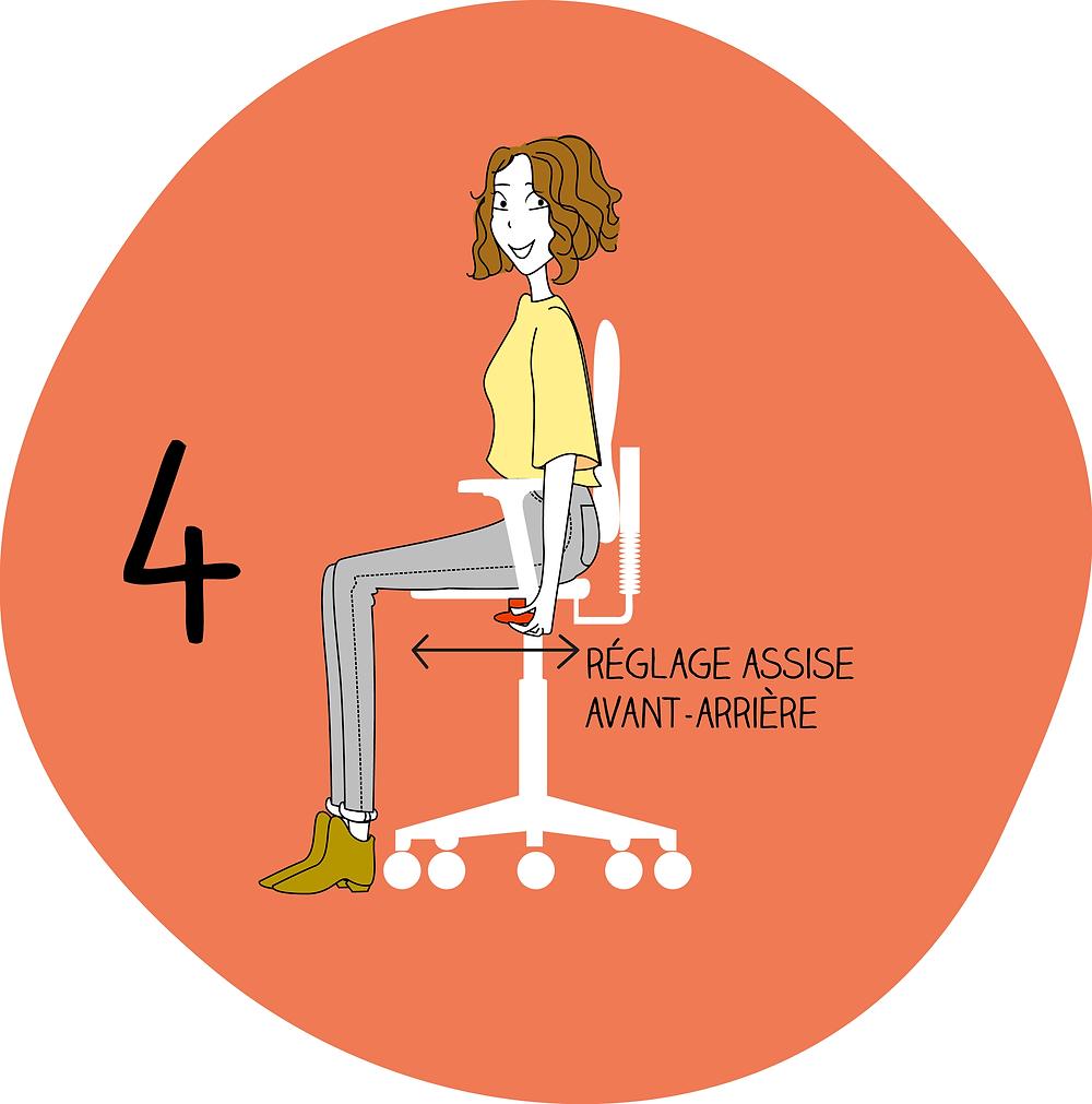 Adapter son siège étape 4