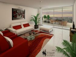 Sala y Terraza 3D