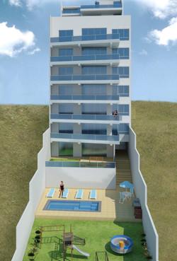 Fachada Edificio 3D