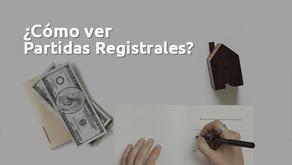 Cómo Ver Partidas Registrales?