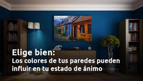 El color de las paredes de tu casa puede influir en tu estado de ánimo.