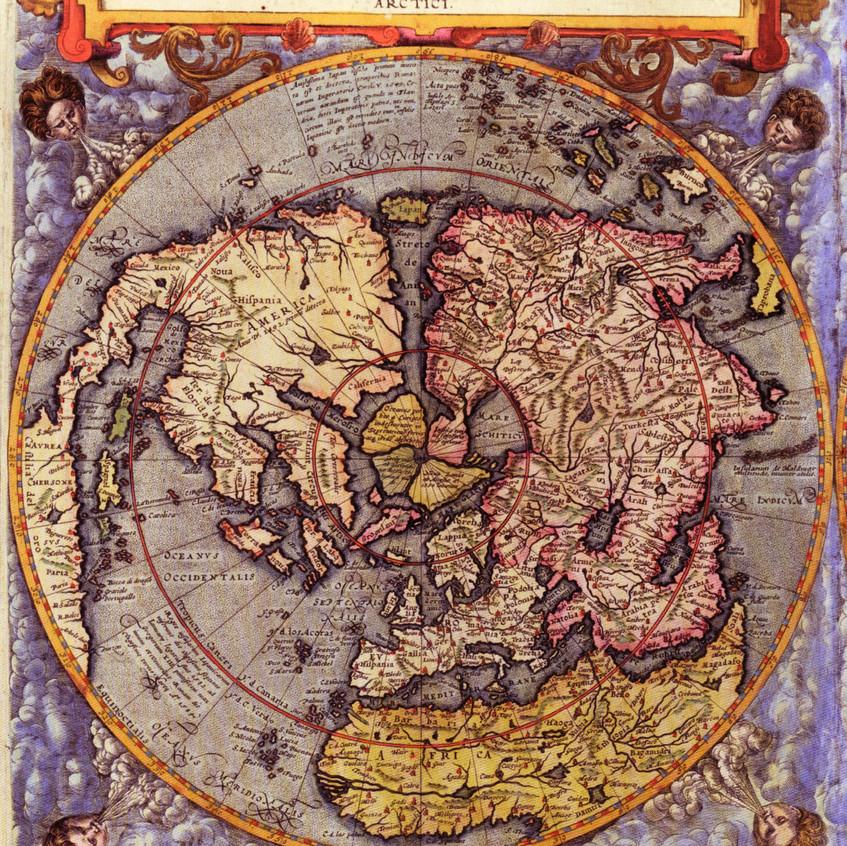 Cornelis De Jode [World] Hemispheriu ab Aequinoctiali Linea, ad Circulu Poli .