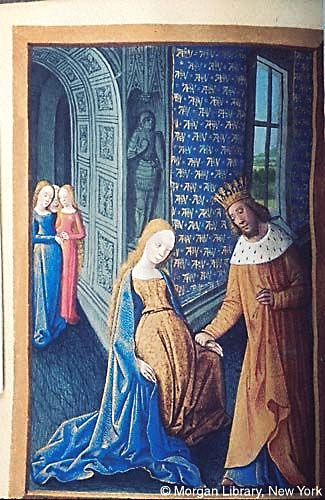 Medieval Manuscript Images, Pierpont Morgan Library, Hours of Anne of France. MS M.677 fol