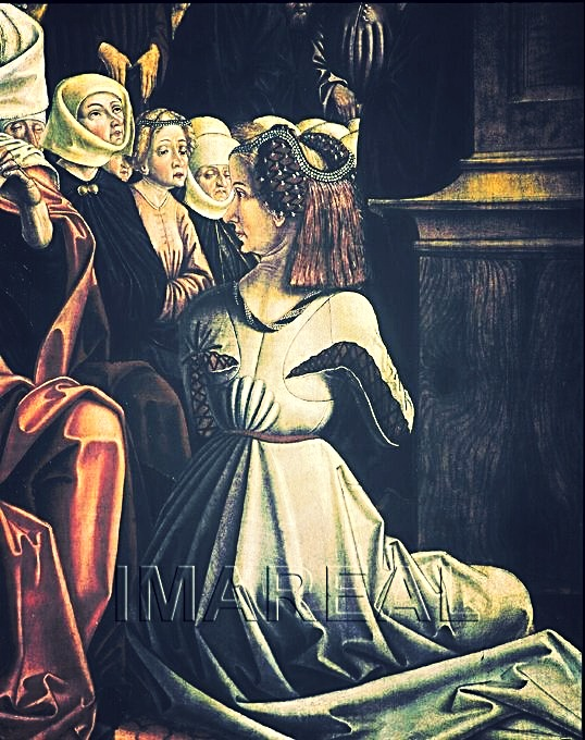 Predigt des Hl. Wolfgang (detail).1480-1482; St. Wolfgang; Österreich; Oberösterreich; Pfarr- und Wallfahrtskirche St