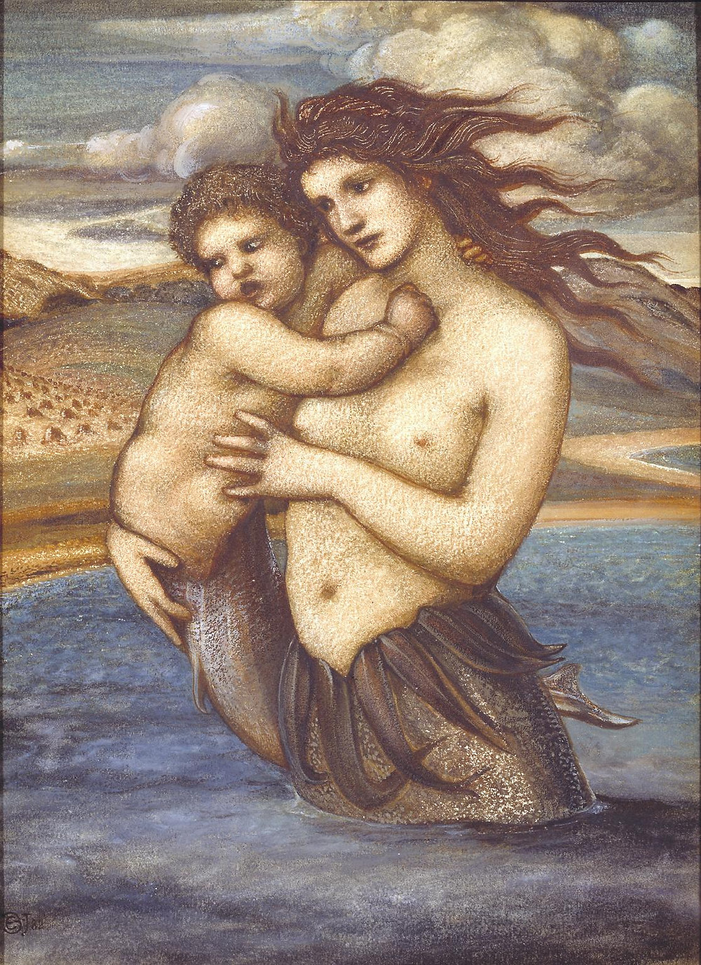 Сэр Эдвард Коли Бёрн-Джонс, Русалка 1882. Sir Edward Coley Burne-Jones, Bt  The Mermaid 1882