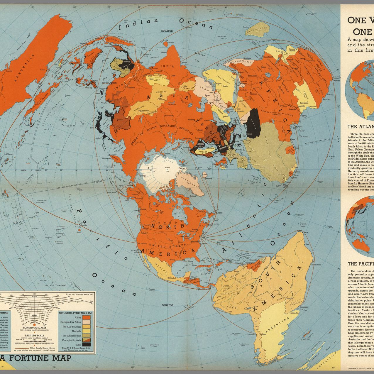 One world, one war. Drawn by Richard Harrison-1942