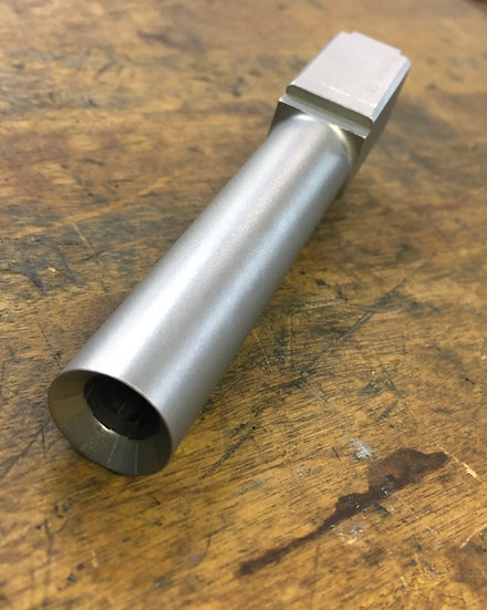 Glock 19 9MM Flush Deep Dish Crowned Stainless Steel Barrel