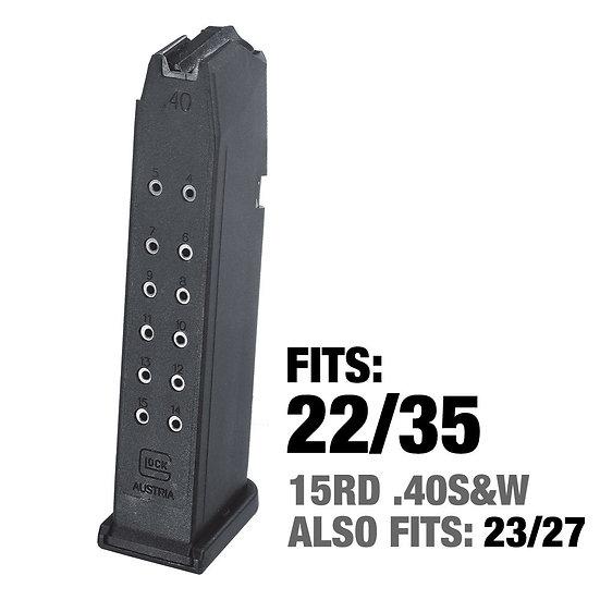 Glock 22 15 Round 40 S&W Magazine
