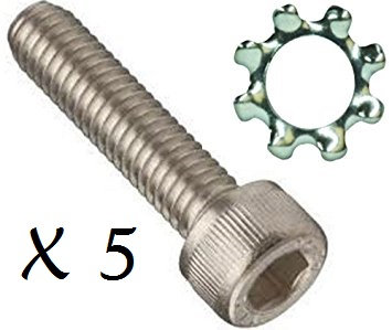 (5) AR-15 Grip Screw & Washer
