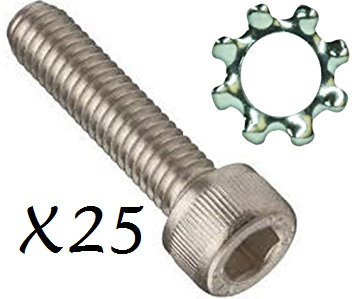 (25) AR-15 Grip Screw & Washer