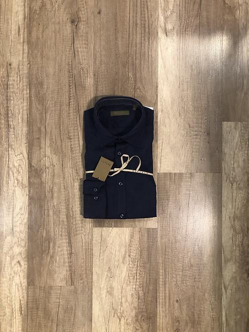 Camicia Blu Outfit 100% Lino