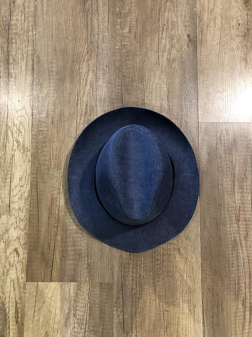 Cappello Blu Con Nastro